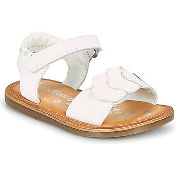 Zapatos Niña Sandalias Kickers DYASTAR Blanco
