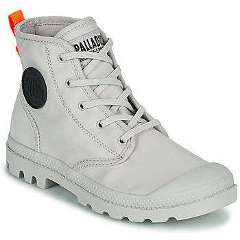 Zapatos Mujer Botas de caña baja Palladium PAMPA HI TWILL Gris