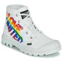 Zapatos Botas de caña baja Palladium PAMPA HI PRIDE Blanco / Multicolor
