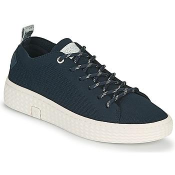 Zapatos Mujer Zapatillas bajas Palladium Manufacture TEMPO 06 KNIT Marino