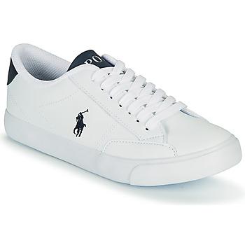 Zapatos Niños Zapatillas bajas Polo Ralph Lauren THERON IV Blanco / Marino