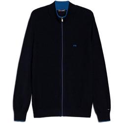 textil Hombre Chaquetas de punto NeroGiardini E074560U Azul