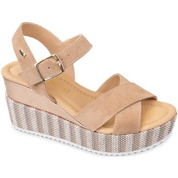 Zapatos Mujer Sandalias Valleverde 32435 Beige