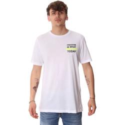 textil Hombre Camisetas manga corta Antony Morato MMKS01786 FA100189 Blanco