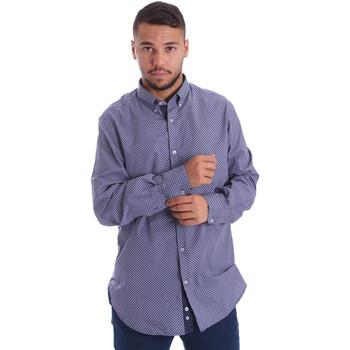 textil Hombre Camisas manga larga Navigare N691010BD Azul