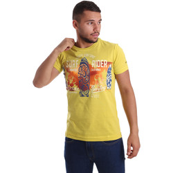 textil Hombre Camisetas manga corta Navigare N631017 Amarillo