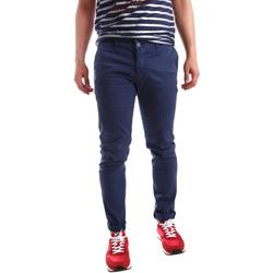textil Hombre Pantalones chinos Sei3sei PZV21 7183 Azul