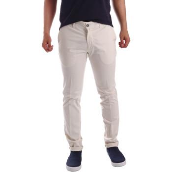textil Hombre Pantalones chinos Sei3sei PZV21 7148 Blanco