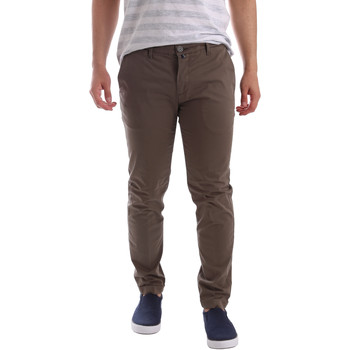 textil Hombre Pantalones chinos Sei3sei PZV89 7147 Marrón