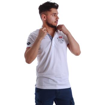 textil Hombre Polos manga corta Key Up 262RG 0001 Blanco
