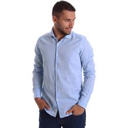 textil Hombre Camisas manga larga Gmf 971306/02 Azul