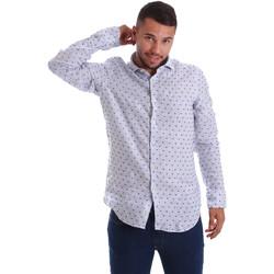 textil Hombre Camisas manga larga Gmf 971312/01 Azul
