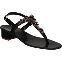Zapatos Mujer Sandalias Positano 2007 Negro