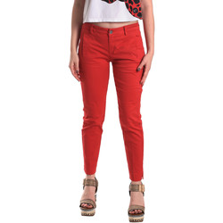 textil Mujer Pantalones chinos Fornarina BE171L74G29176 Rojo