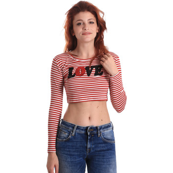 textil Mujer Camisetas manga larga Fornarina BE175L14JG0976 Rojo