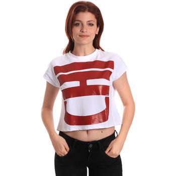 textil Mujer Camisetas manga corta Fornarina BE175L31JG0709 Blanco