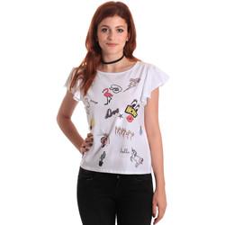 textil Mujer Camisetas manga corta Fornarina BE175L40JG0709 Blanco