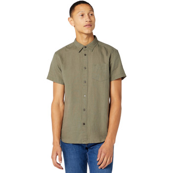 textil Hombre Camisas manga corta Wrangler W5J1LOX45 Verde