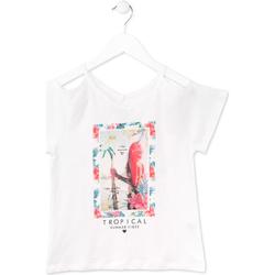 textil Niña Camisetas manga corta Losan 714 1026AB Blanco