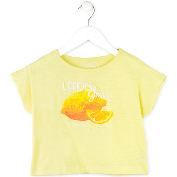 textil Niña Camisetas manga corta Losan 714 1211AB Amarillo