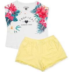 textil Niña Conjunto Losan 714 8015AB Blanco