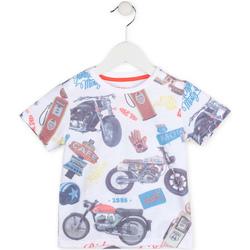 textil Niño Camisetas manga corta Losan 715 1017AC Blanco