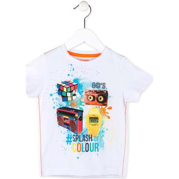 textil Niño Camisetas manga corta Losan 715 1023AC Blanco