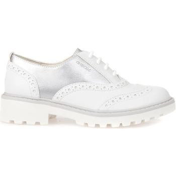 Zapatos Niños Derbie Geox J6420F 054AJ Blanco