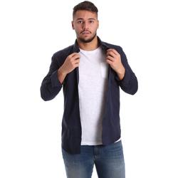 textil Hombre Camisas manga larga Antony Morato MMSL00408 FA400047 Azul
