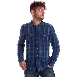 textil Hombre Camisas manga larga Gaudi 721BU46005 Azul