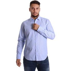 textil Hombre Camisas manga larga Gmf 972158/01 Azul