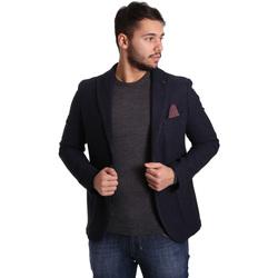 textil Hombre Chaquetas / Americana Sei3sei PZG12 7296 Azul