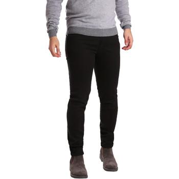 textil Hombre Pantalones con 5 bolsillos Sei3sei PZV17 7257 Negro