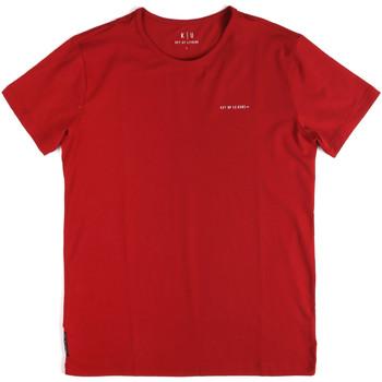 textil Hombre Camisetas manga corta Key Up 2G69S 0001 Rojo