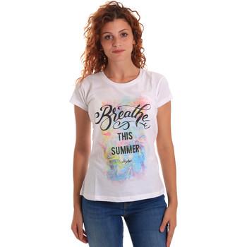 textil Mujer Camisetas manga corta Key Up 5D59S 0001 Blanco