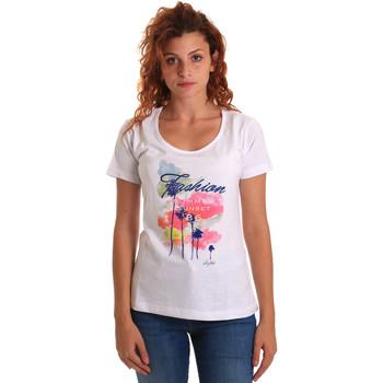 textil Mujer Camisetas manga corta Key Up 5D58S 0001 Blanco