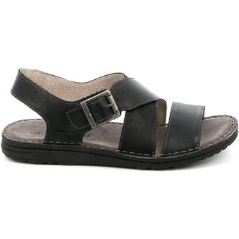 Zapatos Hombre Sandalias Grunland SA1853 Negro