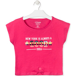 textil Niña Camisetas manga corta Losan 014-1025AL Rosado
