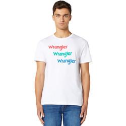 textil Hombre Camisetas manga corta Wrangler W7D7D3989 Blanco