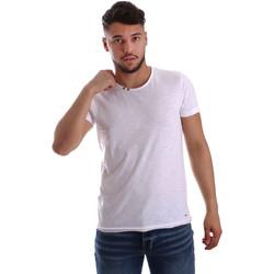 textil Hombre Camisetas manga corta Key Up 233SG 0001 Blanco