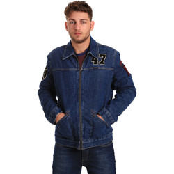 textil Hombre Chaquetas denim Wrangler W4580512L Azul