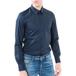 textil Hombre Camisas manga larga Antony Morato MMSL00362 FA400042 Azul