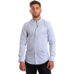 textil Hombre Camisas manga larga Antony Morato MMSL00376 FA450001 Azul