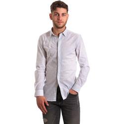 textil Hombre Camisas manga larga Antony Morato MMSL00428 FA430302 Blanco