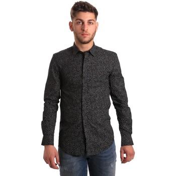 textil Hombre Camisas manga larga Antony Morato MMSL00428 FA430302 Negro