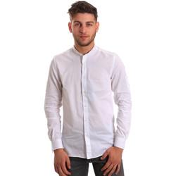 textil Hombre Camisas manga larga Antony Morato MMSL00429 FA440006 Blanco