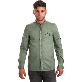 textil Hombre Camisas manga larga Antony Morato MMSL00452 FA400014 Verde
