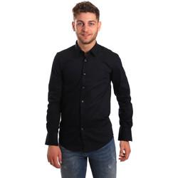 textil Hombre Camisas manga larga Antony Morato MMSL00472 FA450001 Azul