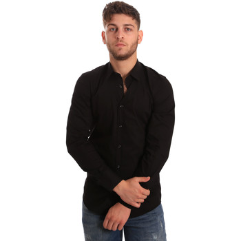 textil Hombre Camisas manga larga Antony Morato MMSL00472 FA450001 Negro