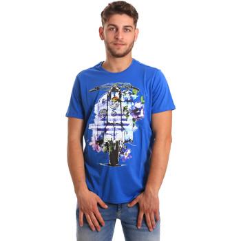 textil Hombre Camisetas manga corta Gaudi 811BU64154 Azul